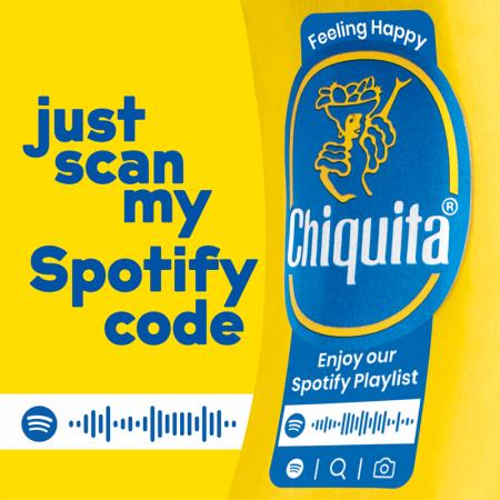 chiquita spotify καμπάνια κωδικός